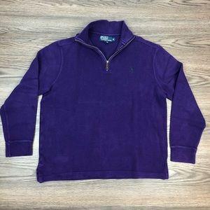 Polo Ralph Lauren Purple 1/4 ZIP Sweater M